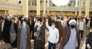 تجمع طلاب و مسولین واساتید حوزه حضرت ولی عصرعج بناب  در محکومیت کشتار بیرحمانه مردم افغانستان توسط گروههای تروریست