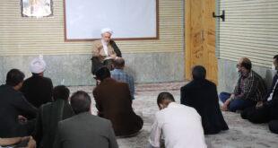 جلسه اخلاق حجت الاسلام والمسلمین حاج آقا اصغری با کارکنان حوزه علمیه ولی عصر عج بناب برگزار گردید